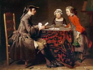 Chardin 1743 (salon) Les tours de carte Dublin National Gallery of Ireland