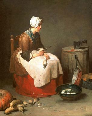 Chardin A la ratisseuse de navets 1738 Washington, National Gallery of Art,