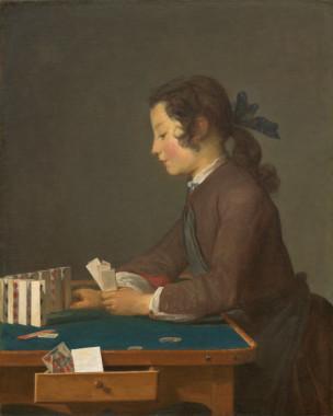 Chardin Z Le chateau de cartes 1737 National Gallery of Arts Washington