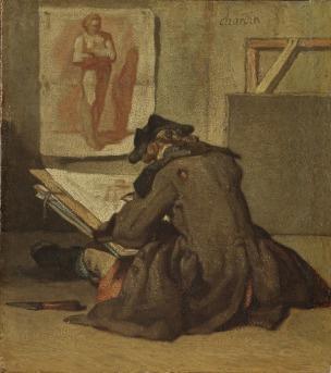 Jean Siméon Chardin: Tecknaren.NM 779