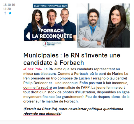 une candidate fantôme au #RN de #Forbach