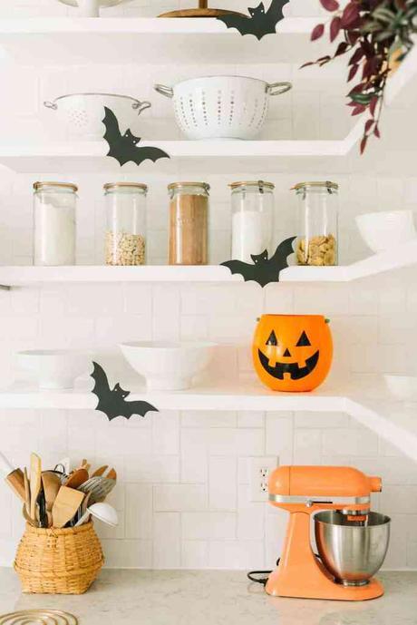 déco diy halloween facile cuisine orange papier do it yourself décoration - blog déco - clem around the corner