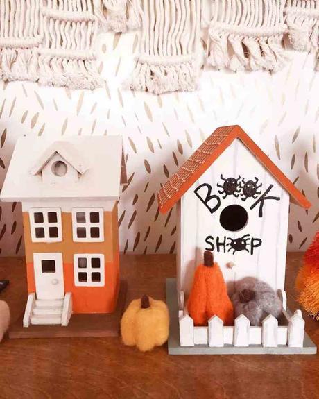 photophore maison 31 octobre dia de la muerte orange blanche noire à fabriquer