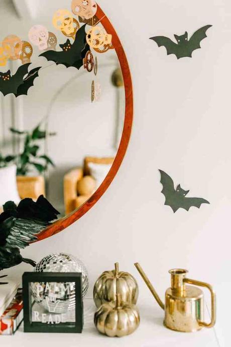 déco diy halloween facile chauve souris - blog déco - clem around the corner