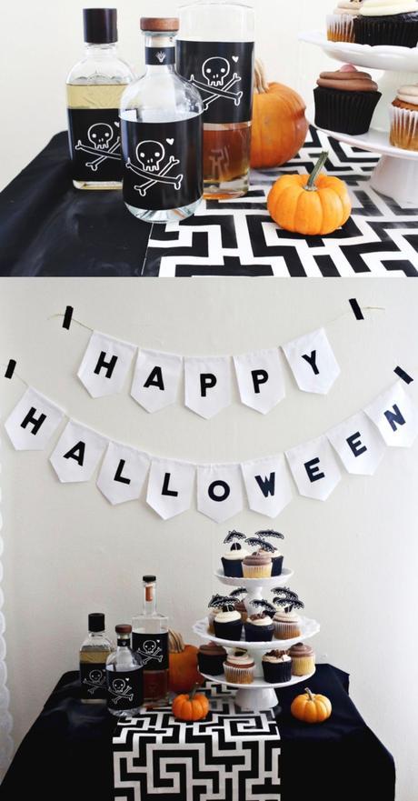 déco diy halloween facile bouteilles poison étiquette diy - blog déco - clem around the corner