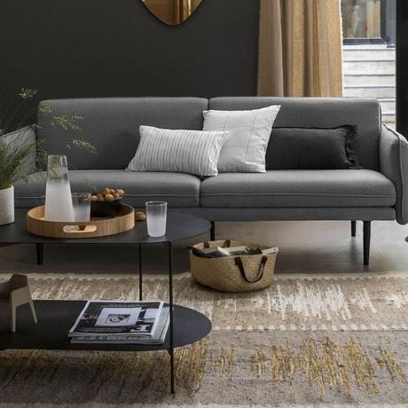 comment assortir choisir ses coussins d intérieur salon gris noir table basse métal déco slow living