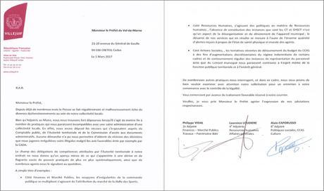 Lettre de démission d'Adjoint de Philippe VIDAL au Préfet ...