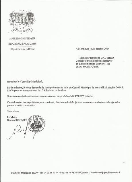 modele lettre de demission conseil municipal gratuit