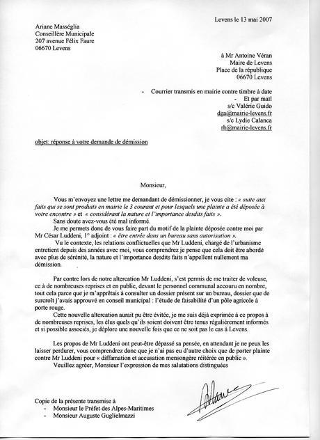 modèle lettre démission adjoint au maire - Modele et exemple ...