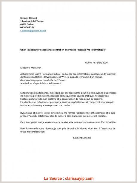 Haut Lettre Motivation Licence, Banque Alternance Lettre ...