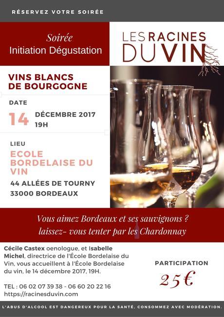 INVITATION Initiation à la dégustation vins de Bourgogne