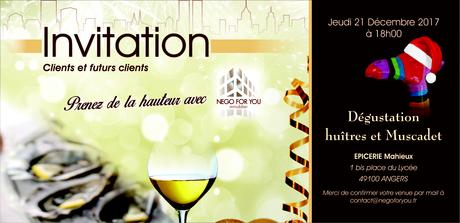 Invitation Soirée Dégustation Huîtres et Muscadet - Jeudi 21 ...