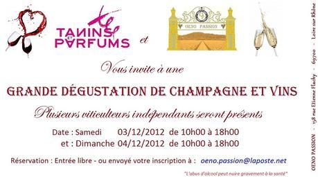 TANINS et PARFUMS: Invitation Dégustation