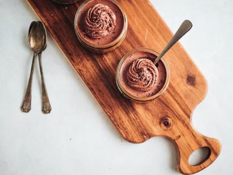 Mousse au chocolat sans oeufs {vegan}