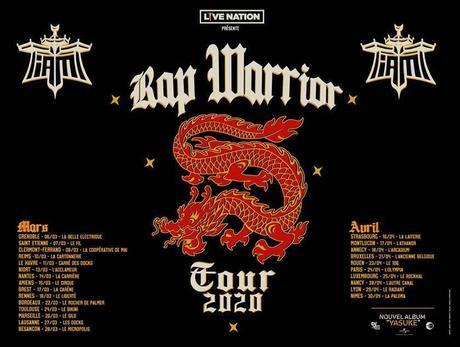IAM / RAP WARRIOR TOUR - Les dates de la tournée 2020