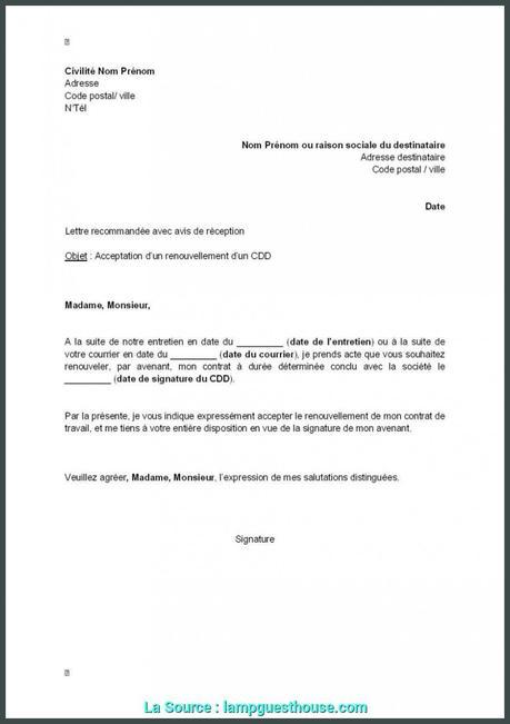 lettre demande de logement - Modele et exemple de lettre