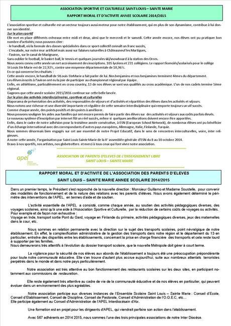 rapport moral 2015 – Copie 1 | Saint-Louis - Sainte-Marie