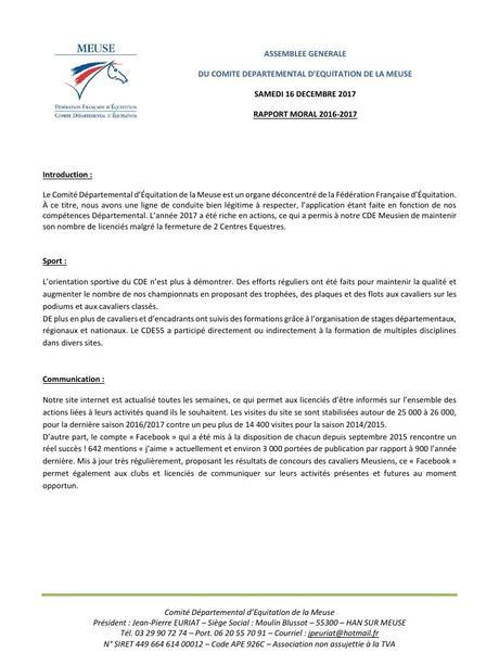 Rapport Moral CDE55 2016 2017 par Mélanie - Fichier PDF