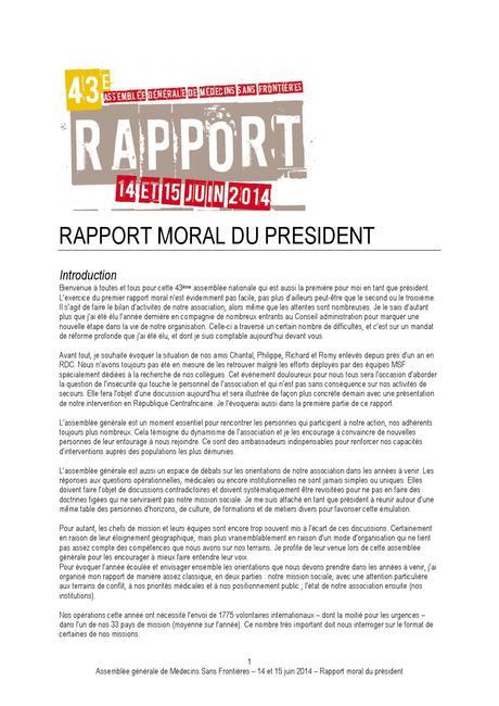 Rapport moral du Président de MSF 2013-2014 by Médecins Sans ...