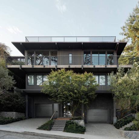 maison villa à San Francisco façade résidence californie bois métal gris foncé - blog déco - clem around the corner