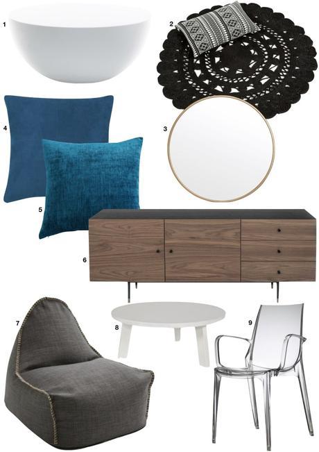 shopping list meuble bois coussin de sol table basse - blog déco