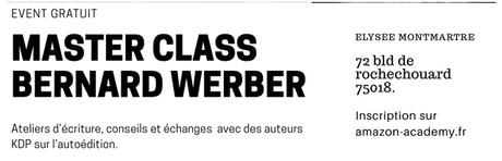Master Class avec Bernard Werber 06/11 (Entrée Gratuite)