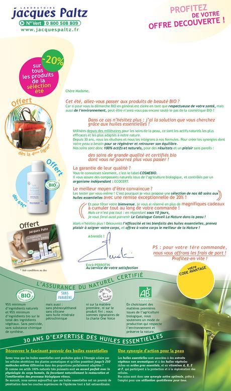 Mailing cosmétiques - agence de publicité CHOCOLAT NOIR