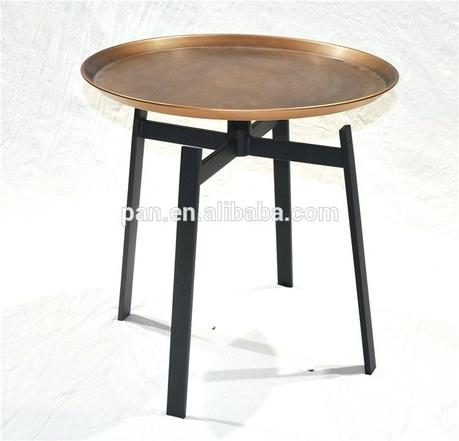 metal tray coffee table contemporary design swivel circular metal tray husk coffee table by
