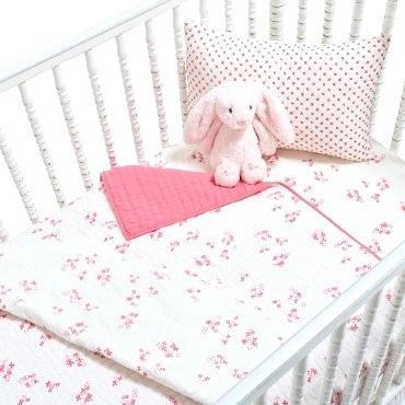 pink crib bedding light pink floral crib bedding