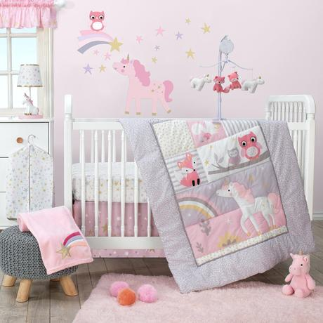 pink crib bedding pink unicorn crib bedding