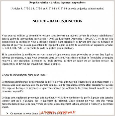 Recours Dalo Lettre Type Paperblog
