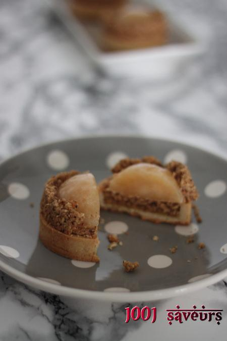 Tartelettes Twist (noisette, pommes et yuzu)