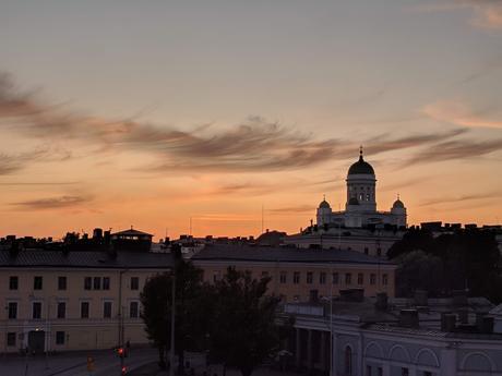 helsinki coucher soleil finlande
