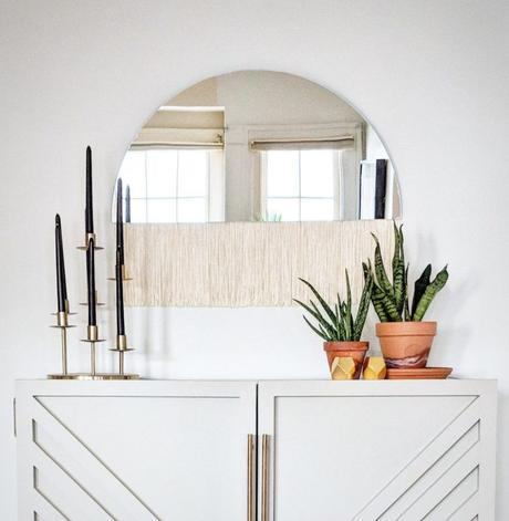 miroir à franges demi lune art déco tendance clemaroundthecorner