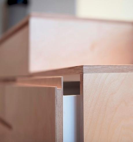 blog déco meuble rangement bois contreplaqué chambre astuce pour optimisation espace