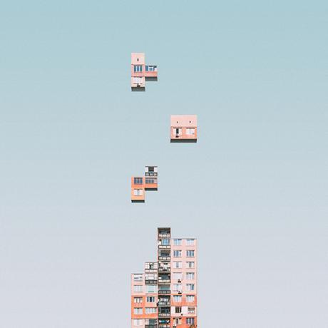 L'architecture brutaliste de Sofia traitée comme le jeu Tetris