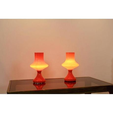 orange table lamps orange table lamps for living room