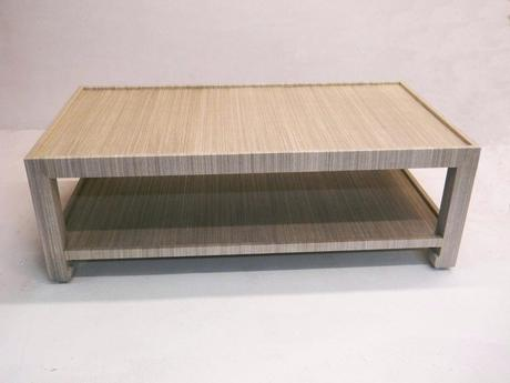 linen wrapped coffee table wrapped table with shelf