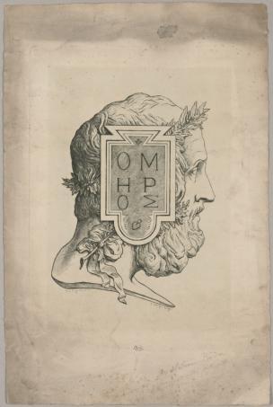 Leopold Armand Hugo Profil d'Homere Musee Rodin