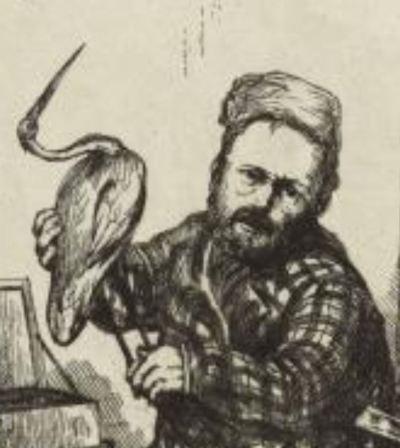 Leopold Armand Hugo double autoportrait a l'ibis Maison de Victor Hugo Hauteville House detail