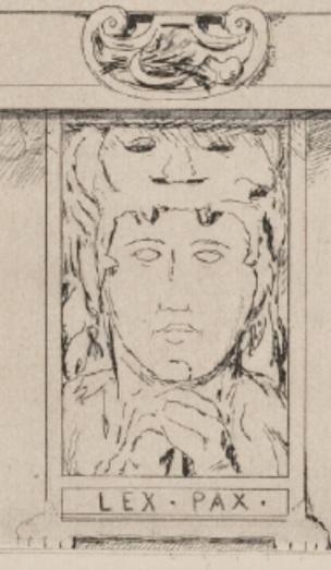 Leopold Hugo Projet de facade 1883 Musee Rodin embleme inverse
