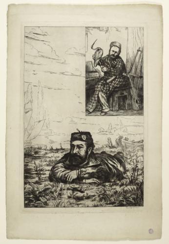 Leopold Armand Hugo double autoportrait a l'ibis Maison de Victor Hugo Hauteville House