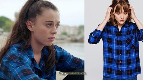 DEMAIN NOUS APPARTIENT : la chemise bleue à carreaux de Sara dans l'épisode 577