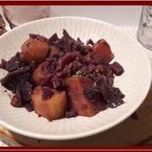Chou rouge, pommes de terre et lardons au Cookéo - Oh, la gourmande..