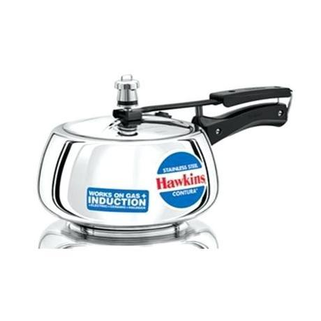 hawkins stainless steel pressure cooker hawkins stainless steel pressure cooker 15 litres silver hss15