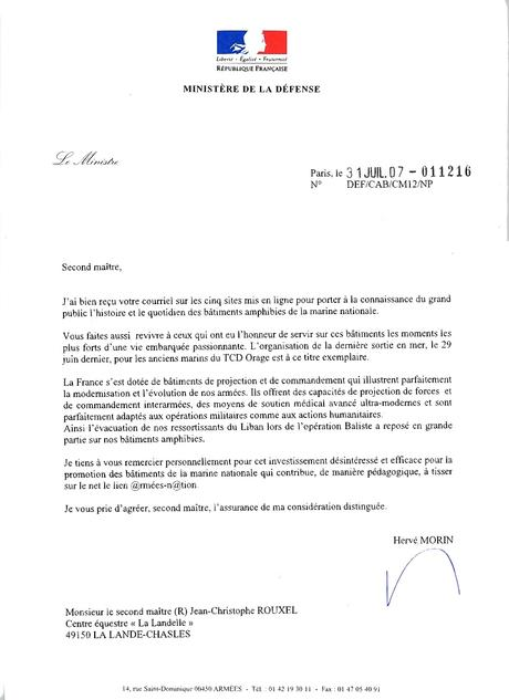 lettre militaire