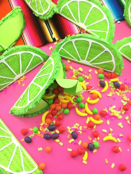 idée de décoration originale fruit citron vert bonbons papier art activité manuelle enfant