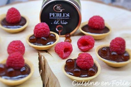 Tartelette chocolat-framboise, et …
