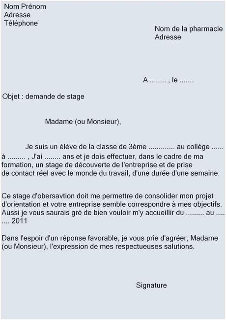 Lettre De Motivation Cap Lettre De Motivation Pour Stage ...