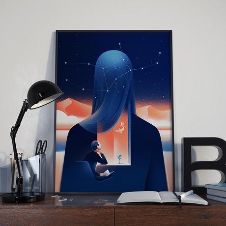 Classy illustrations by Jekaterina Budryte